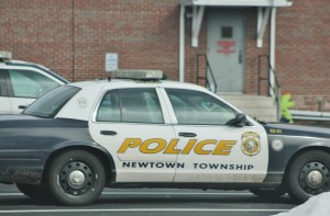 A Newtown Township police car.
