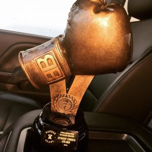 The Burger Brawl trophy. Credit: Pineville Tavern